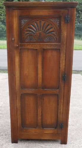 Carved Oak Panelled Hall Robe